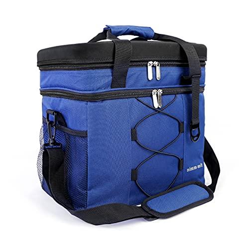 Nimm-mit Picknicktasche 25L (33,5 x 22 x 33 cm) - praktische Kühltasche für unterwegs, Auto, Camping & Co. - inkl. Schultergurt & Picknicktisch