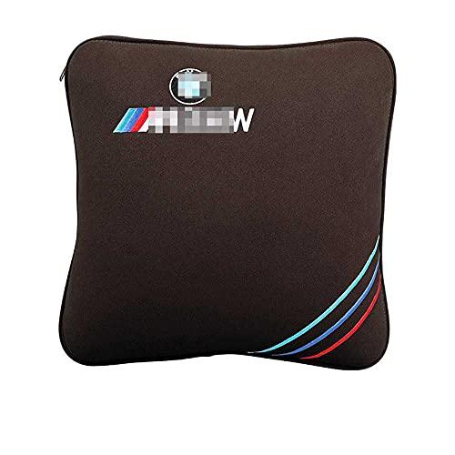XQRYUB Edredón de Almohada para Coche, edredón de Aire Acondicionado de Doble Uso, Almohada para la Espalda Lumbar, Accesorios Interiores para Coche, Apto para BWM
