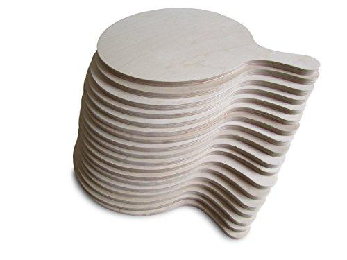 Planche à pizza- Forme ronde, jolie et pratique - Plusieurs tailles disponibles-, Bois, Large