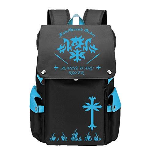 WANHONGYUE Anime Fate Zero/Stay Night/Grand Order Cosplay Rucksack Backpack Mochilas Escolar Bolsa de Escuela Mochila para Portátil 15.6 Pulgadas Azul / 2