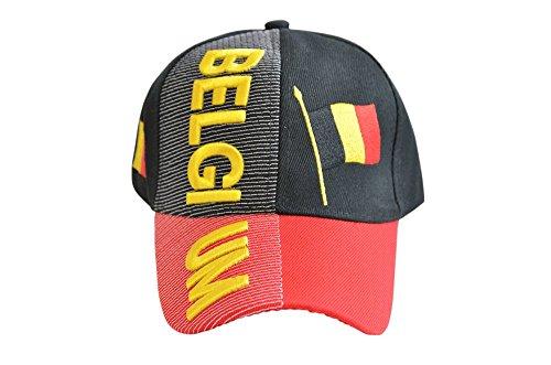 Kappe Motiv Belgien Fahne, nation - Cap mit belgischer Fahne