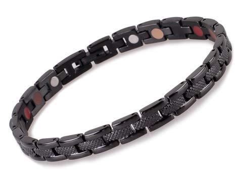 SSC Magnet Armband Edelstahl | schwarz | Magnetarmband (2000+ Gauss) | antiallergener Schmuck (316L Chirurgenstahl) | Ideal als Geschenk [SSC-177]