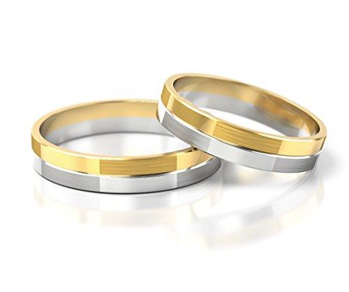 Ringe-der-Welt Fedi nuziali oro Bianco/oro Giallo S-754