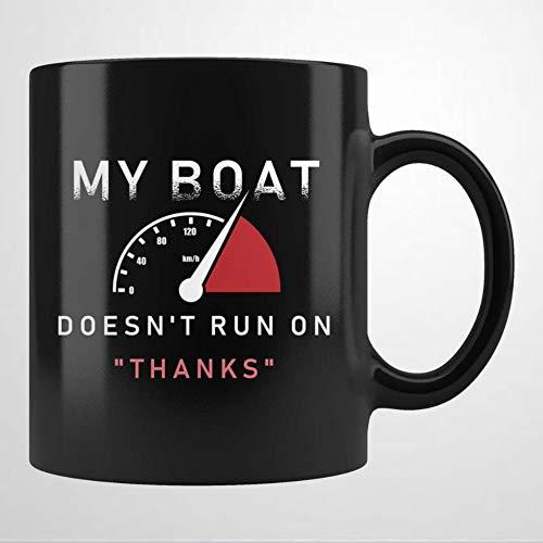 Divertida taza de té de cerámica para el propietario del barco, regalo de canoa, regalo de barco, taza de café marinero, taza de té divertida para hombres y mujeres