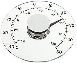 KUNSE Claro Fahrenheit Celsius Grado Circular Exterior Termómetro Higrómetro Temperatura Medidor De Humedad
