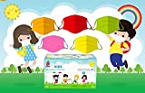 Infantiles-Made in Italy -Multicolor- 50 Mascarillas médico-quirúrgicas para niños - Desechables 3 capas - Certificado CE -Homologadas-Tip II- 2- 3 capas - Polipropileno