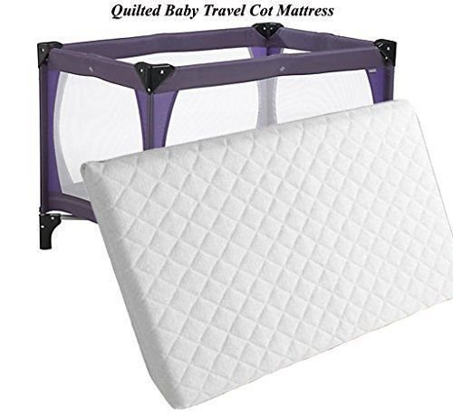 120 x 60cm Travel Cot Mattress Extra Thick 7cm So More Comfortable for New Born and Toddler,British Made with High Grade Density Foam