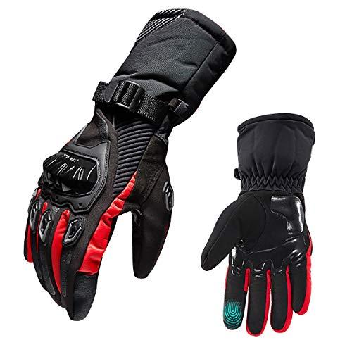 Motorrad Handschuhe, Motorradhandschuhe Winter für Männer - Touch Screen Handschuhe Wasserdicht Winddicht Handschuhe für ATV Reiten, Radfahren, Jagen, taktischen Training, Reiten, Wandern (XL)