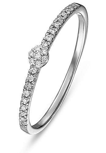 CHRIST Diamonds Damen-Damenring 375er Weißgold 25 Diamant 50 Weißgold 32004932