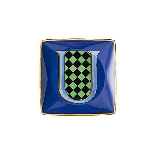 Versace Schale Quadra Alphabet 12 cm Buchstabe U