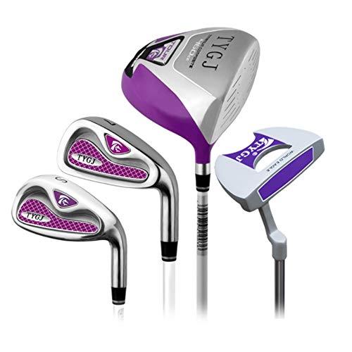Wguili Golf Cart Bag Golfschläger Rosa Rechte Hand Gebrauchte Golf Putter Für Frauen 4 Stücke Golf Set Stange Damen Half Set Wasserdichtes Material und trockene Tasche (Farbe : One Color, Größe : S2)