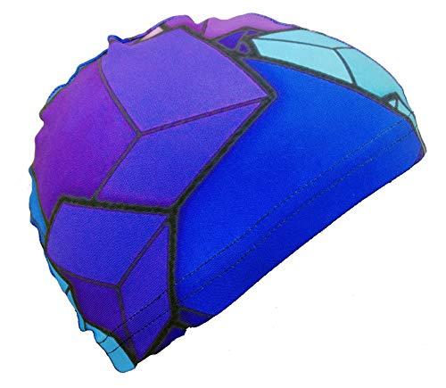 SWIMXWIN Cuffia da Nuoto Revo cap Cubi | Cuffia in Tessuto| Cuffia da Piscina | Grande Comfort e Aderenza | Made in Italy
