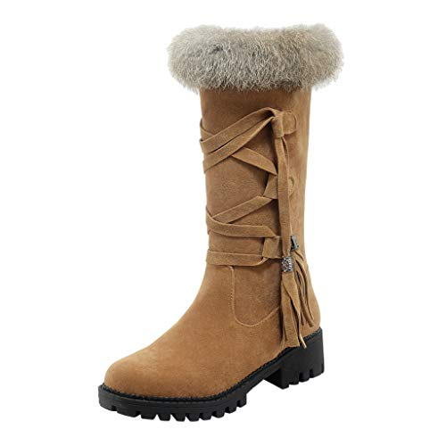 Learn More About Yezijin Snow Boots for Women, Winter Womens Leisure Flock Casual Shoes Round Toe La...