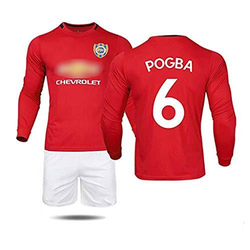 AJSYPD Boy's/Man's Manchester United Pogba Jersey Heimfußballverein Spieler Nr. 6 Nr. 7 Nr. 9 Nr. 10 Fußball Trikot-Langarmhemden für Kinder und Jugendliche Erwachsene-2-24