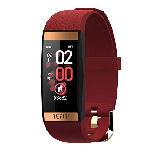 OPALLEY Smartwatch Fitness Armband, Fitness Uhr mit Blutdruckmessung Pulsmesser IP68 Wasserdicht Fitness Tracker Sportuhr mit Schrittzähler Pulsuhren Stoppuhr für Damen Herren für iOS Android Handy