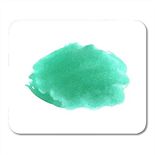 Muis Pads Emerald Kleurrijke Kleur Wit Turkoois Spot Met Zout Vlekken Water Mint Mouse Pad Voor Notebooks Computers Muismatten