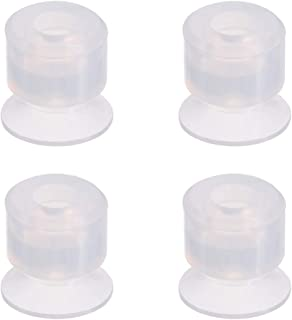 uxcell Bellows Suction Cup,10mm Diameter x M5 Joint Silicone Vacuum Pneumatic Suction Cup 4pcs