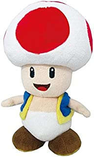 Little Buddy Super Mario All Star Collection 1417 Toad Stuffed Plush, 7.5