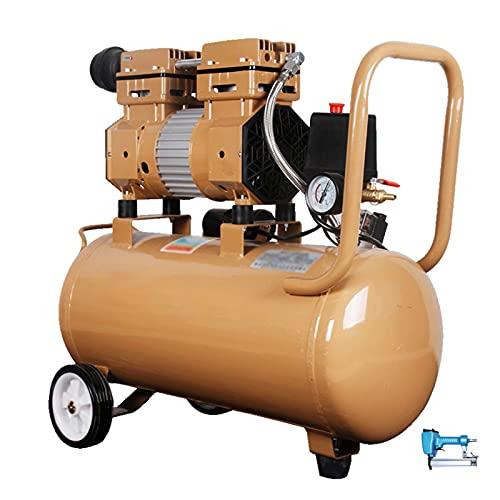WUK Compresor de Aire sin Aceite Bomba de Aire portátil 30L Silencioso (65dB) Compresor de Aire pequeño de 800W para decoración del hogar Compresor de inflado de neumáticos con Pintura en Aerosol