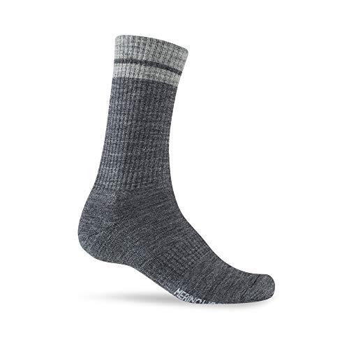 Giro Winter Merino Wool Cycling Socks - Charcoal/Grey (2021), XL