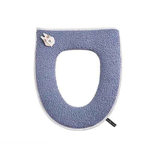 Toiletbril Toiletbril Afdekhoes Winter Quick Universele Toiletbril Dikke Huishoudelijke Waterdichte Toiletmat Badkamer Accouterment, Toilet Stoelhoezen WC-stoelen Blauw