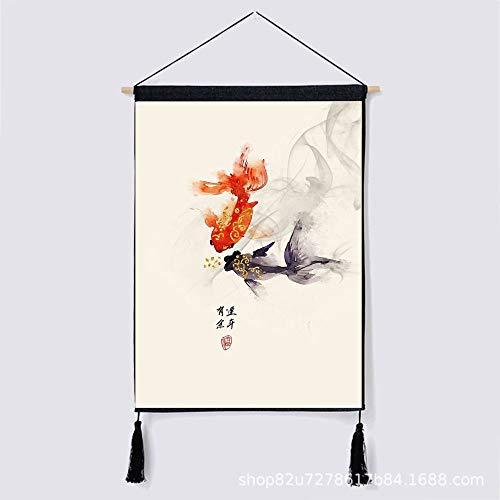 mmzki Tinte und glückverheißende Wunschfriedensbaumwolle und dekorative Leinenmalereien die Malerei Y 46 * 65CM hängen