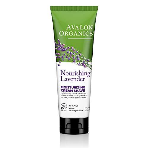 Avalon Organics Nourishing Lavender Moisturizing Cream Shave, 8 oz.
