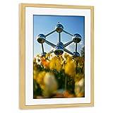 artboxONE Poster mit Rahmen Kiefer 60x40 cm Atomium von