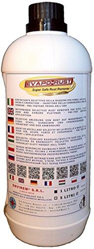 EVAPO-RUST® - 1 Lt. - Selektive ablösung von rost auf wasserbasis für eisen, stahl, gusseisen und chromierungen