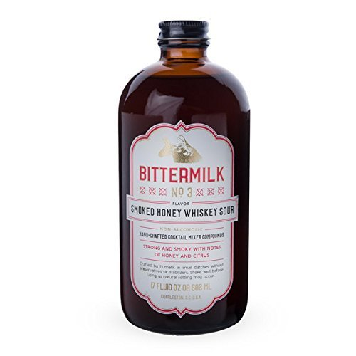 Bittermilk No.3 Smoked Honey Whiskey Sour Cocktail Mix, 16.9 oz by Bittermilk