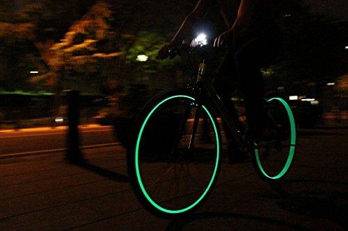 LOOPS LIGHT 自転車用リムライト1台分(ディープリム専用 グリーン)