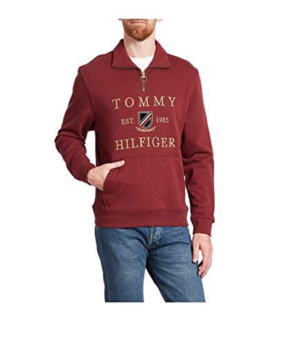 Tommy Hilfiger Felpa Uomo Icon Half Zip Tawny AI9 M