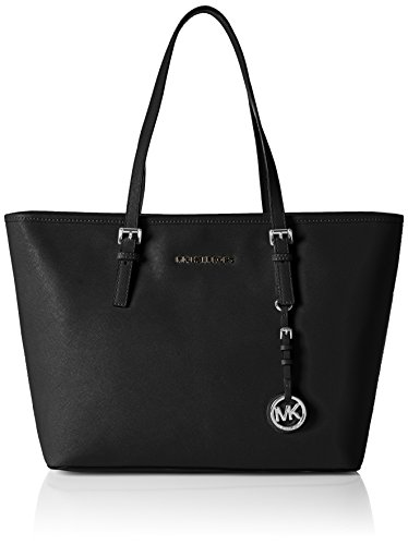 Michael Kors Jet Set Travel Tz, Borsa Tote Donna, Nero (Black), 15x26x37 Centimeters (W x H x L)