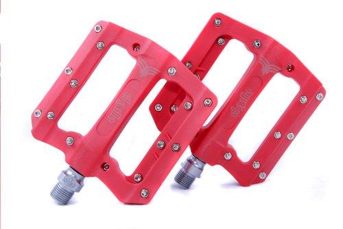 El Gallo Components Fix - Pedales para Bicicleta, Color Rojo