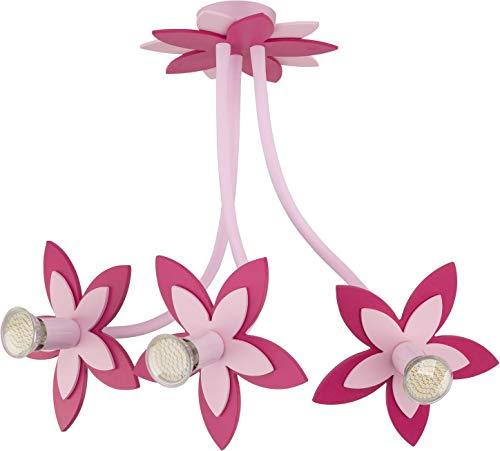 FLOWERS PINK V Deckenleuchte Deckenlampe Kinderzimmerleuchte Kinderzimmerlampe
