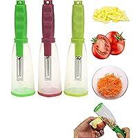 1291/5000 ストレージピーラー、ゴミ箱付きストレージピーラーは、野菜のフルーツピーラーをキッチンに入れることができます