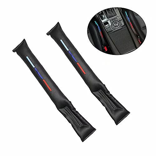 YeenGreen Autositz Gap Stopper, 2 Stück Autositz Lückenfüller, Sitzlückenfüller Seat, Auto Innenraum Zubehör für BMW (Schwarz)