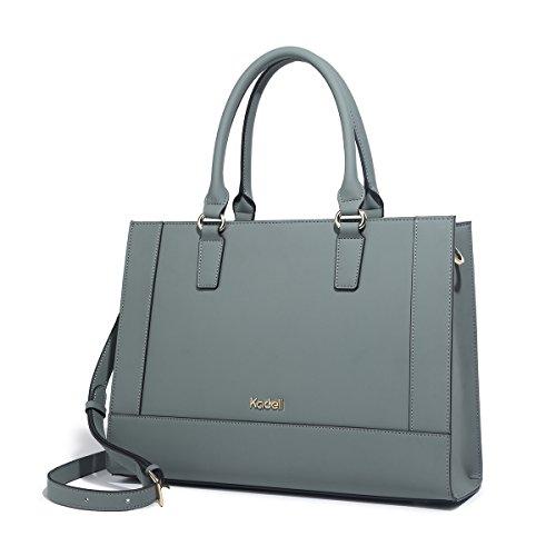 Kadell Damen-Handtasche, großes Fassungsvermögen, mattes PU-Leder -  Grün -  Medium