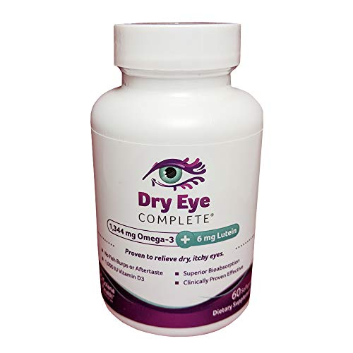 Dry Eye Complete, Formulated for Dry Eyes. Ultimate Vision Health Ingredients: Omega-3, Omega-7, Lutein, Vitamin D3 Save 10 Use Code: DRYEYE10