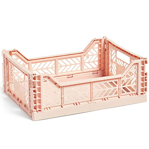 HAY Colour Crate M, Transportbox, Nude, Höhe: 14,5 cm, Tiefe: 30 cm, Länge: 40 cm
