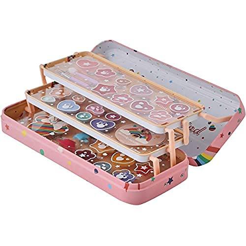 Markwins Mouse Lip & Face Tin-Set Niñas Minnie-Neceser, Selección de Productos Seguros en una Lata de Maquillaje Reutilizable con 3 Pisos (1580154E)