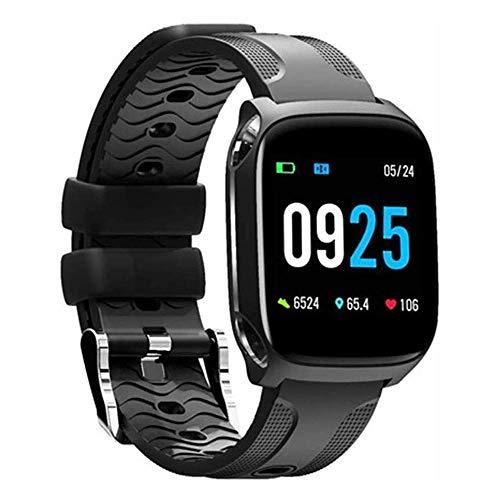 Meyeye Smart Watch Smart Watch Wasserdicht Farben-Schirm-Herzfrequenz-Monitor Schlaf Smartwatch Männer Fitness Tracker Blutdruck beobachten Multi Sport intelligentes Armband (Farbe: rot)