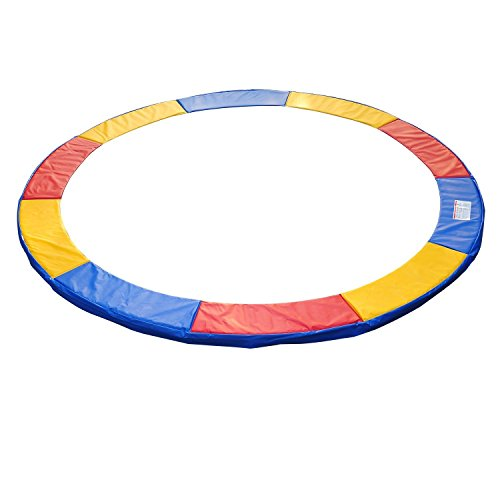 Outsunny HOMCOM Copertura Bordo di Protezione per Trampolino Elastico in PVC Rosso Blu Giallo (Ø305cm)