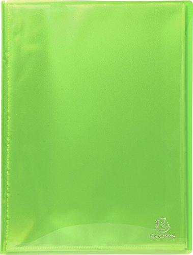 Exacompta 85970e Porte vues Idérama couverture polypro brillante et pochettes interieures lisse haute transparence 100 pochettes et 200 vues couleur bleu vert jaune noir orange rose rouge violet