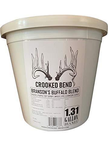 Branson's Buffalo Blend   9lb Bucket   Turnip Radish Wheat Cereal Rye Clover Mix   Branson's Buffalo Blend   Whitetail Deer Food Plot Seed