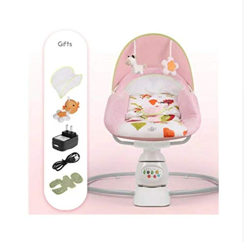 Great Price! Baby Rocking Bed Chair Electric Cradle Pacify Baby's Magic Device Sleep Newborn,Pink
