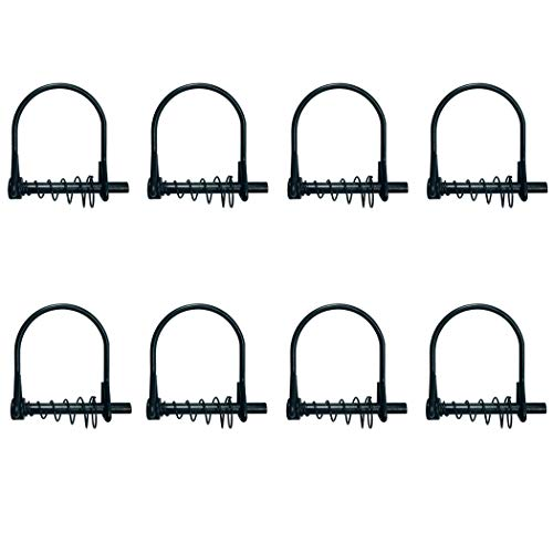 Highwild 8 Pack Silent Shaft Locking Pin with Spring - for Farm Lawn Garden - Hunting Stand Ladder Stands Safety