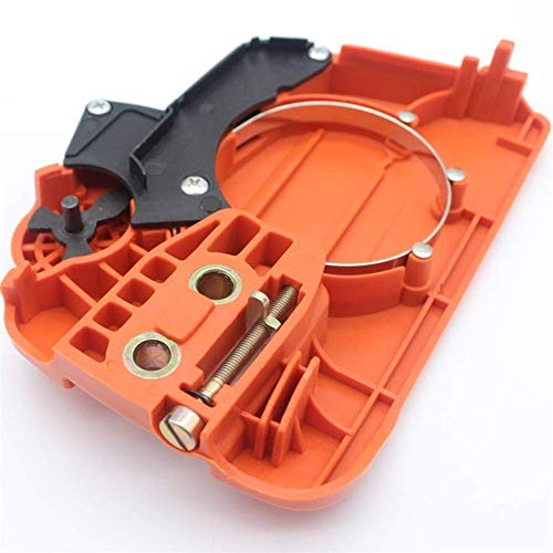 Cubierta lateral de piñón de embrague de freno de cadena compatible con piezas de motosierra Husqvarna 240 E 236 E 235 E 525628901