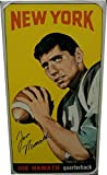 Joe Namath Hand Signed Autographed 1965 Topps Rookie Card Blow Up Canvas 10/69 - Football Slabbed Autographed Rookie Cards. rookie card picture