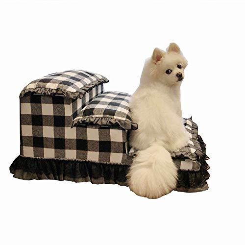 Jie KE hondentrap 3 niveaus voor stapelbedden en hoge banken, trappen voor kleine en middelgrote huisdieren, kattenrep, afneembaar, wasbaar, licht en draagbaar